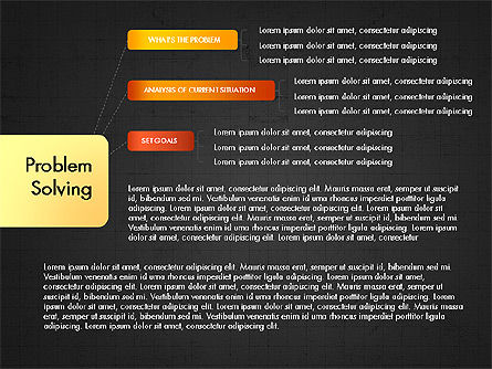 Problem Solving Stages Presentation Template, Slide 11, 03888, Stage Diagrams — PoweredTemplate.com