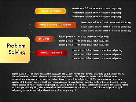 Problem Solving Stages Presentation Template, Slide 12, 03888, Stage Diagrams — PoweredTemplate.com