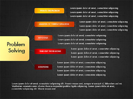Problem Solving Stages Presentation Template, Slide 13, 03888, Stage Diagrams — PoweredTemplate.com