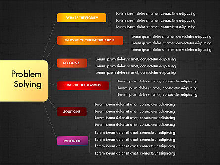 Problem Solving Stages Presentation Template, Slide 14, 03888, Stage Diagrams — PoweredTemplate.com