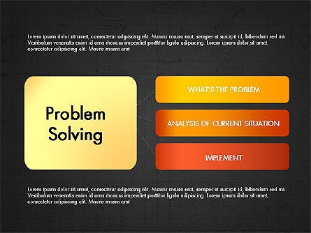 Problem Solving Stages Presentation Template, Slide 15, 03888, Stage Diagrams — PoweredTemplate.com