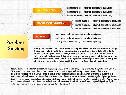 Problem Solving Stages Presentation Template, Slide 3, 03888, Stage Diagrams — PoweredTemplate.com
