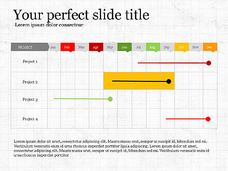 Project Schedule Presentation Concept, 03889, Presentation Templates — PoweredTemplate.com