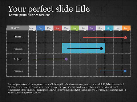 Project Schedule Presentation Concept, Slide 9, 03889, Presentation Templates — PoweredTemplate.com