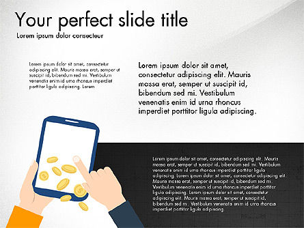 Mobile Marketing Presentation Concept, 03890, Presentation Templates — PoweredTemplate.com