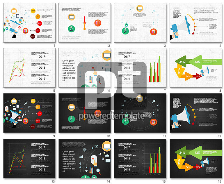 Science and Marketing Presentation Concept