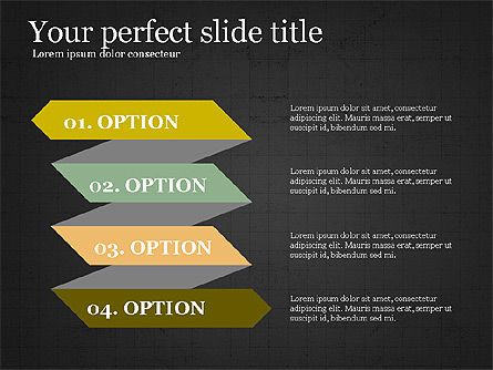 Options Slides Deck, Slide 12, 03896, Process Diagrams — PoweredTemplate.com
