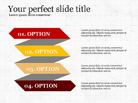 Options Slides Deck, Slide 4, 03896, Process Diagrams — PoweredTemplate.com