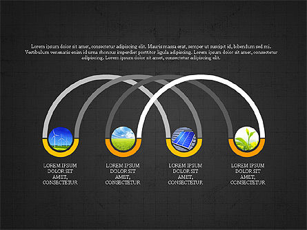 Ecological Process Flow Presentation Concept, Slide 12, 03899, Process Diagrams — PoweredTemplate.com