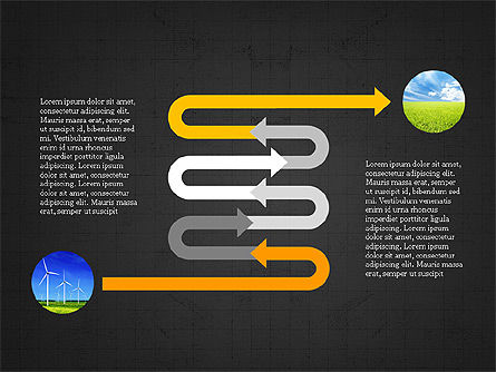 Ecological Process Flow Presentation Concept, Slide 13, 03899, Process Diagrams — PoweredTemplate.com