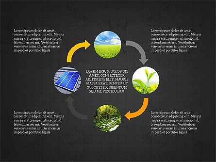 Ecological Process Flow Presentation Concept, Slide 15, 03899, Process Diagrams — PoweredTemplate.com