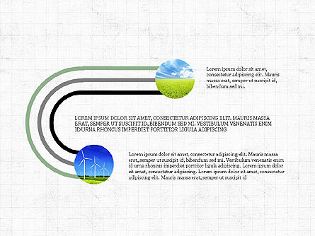 Ecological Process Flow Presentation Concept, Slide 8, 03899, Process Diagrams — PoweredTemplate.com