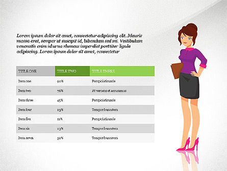 Report with Characters Concept, Slide 5, 03900, Data Driven Diagrams and Charts — PoweredTemplate.com