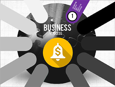 Stage Diagrams: Business Process Stages Presentation Concept #03910