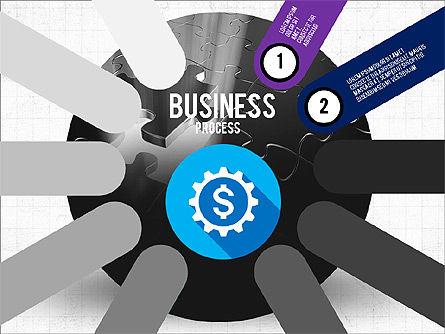 Business Process Stages Presentation Concept, Slide 2, 03910, Stage Diagrams — PoweredTemplate.com