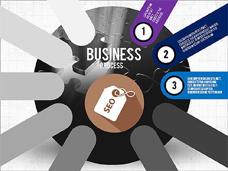 Business Process Stages Presentation Concept, Slide 3, 03910, Stage Diagrams — PoweredTemplate.com
