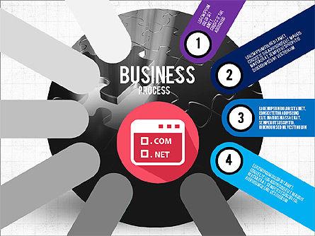 Business Process Stages Presentation Concept, Slide 4, 03910, Stage Diagrams — PoweredTemplate.com