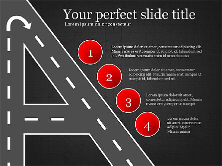 Road Travel Presentation Diagrams, Slide 10, 03916, Infographics — PoweredTemplate.com