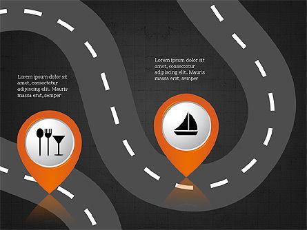 Road Travel Presentation Diagrams, Slide 12, 03916, Infographics — PoweredTemplate.com