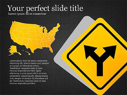 Road Travel Presentation Diagrams, Slide 13, 03916, Infographics — PoweredTemplate.com