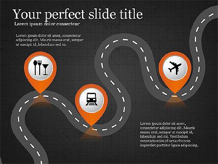 Road Travel Presentation Diagrams, Slide 14, 03916, Infographics — PoweredTemplate.com