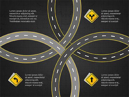 Road Travel Presentation Diagrams, Slide 16, 03916, Infographics — PoweredTemplate.com