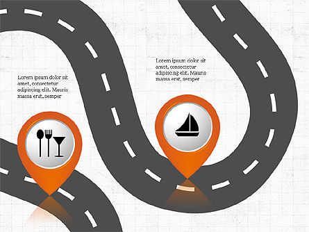 Road Travel Presentation Diagrams, Slide 4, 03916, Infographics — PoweredTemplate.com