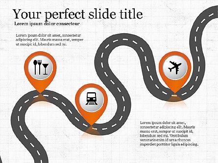 Road Travel Presentation Diagrams, Slide 6, 03916, Infographics — PoweredTemplate.com