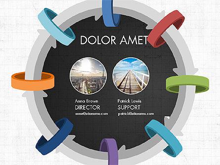 Circular Process Through Rings Data Driven Report, Slide 10, 03922, Data Driven Diagrams and Charts — PoweredTemplate.com