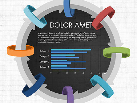 Circular Process Through Rings Data Driven Report, Slide 12, 03922, Data Driven Diagrams and Charts — PoweredTemplate.com