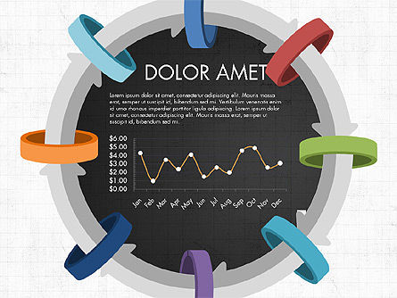 Circular Process Through Rings Data Driven Report, Slide 13, 03922, Data Driven Diagrams and Charts — PoweredTemplate.com
