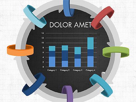 Circular Process Through Rings Data Driven Report, Slide 14, 03922, Data Driven Diagrams and Charts — PoweredTemplate.com