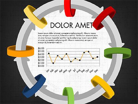 Circular Process Through Rings Data Driven Report, Slide 5, 03922, Data Driven Diagrams and Charts — PoweredTemplate.com