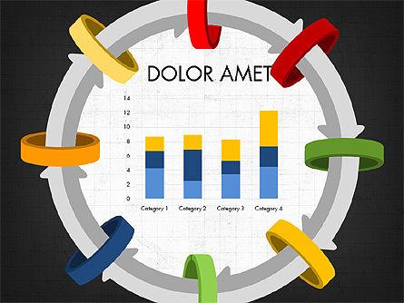Circular Process Through Rings Data Driven Report, Slide 6, 03922, Data Driven Diagrams and Charts — PoweredTemplate.com