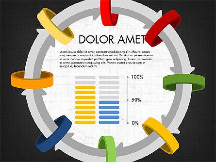 Circular Process Through Rings Data Driven Report, Slide 7, 03922, Data Driven Diagrams and Charts — PoweredTemplate.com