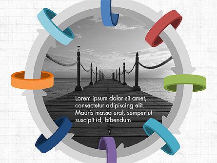Circular Process Through Rings Data Driven Report, Slide 9, 03922, Data Driven Diagrams and Charts — PoweredTemplate.com