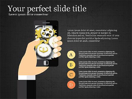 Mobile Finance App Presentation Template, Slide 10, 03923, Presentation Templates — PoweredTemplate.com