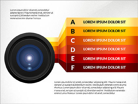 Camera Infographics, 03924, Infographics — PoweredTemplate.com