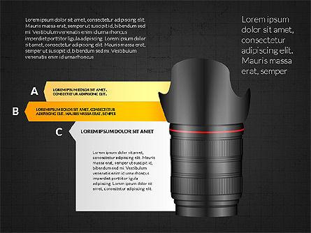 Camera Infographics, Slide 10, 03924, Infographics — PoweredTemplate.com