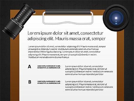 Camera Infographics, Slide 11, 03924, Infographics — PoweredTemplate.com