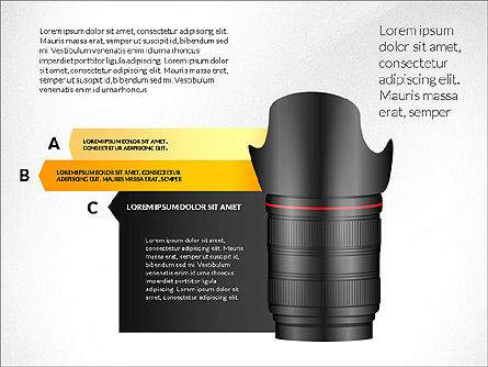 Camera Infographics, Slide 2, 03924, Infographics — PoweredTemplate.com