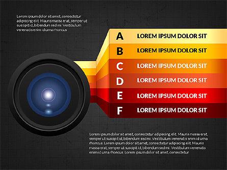 Camera Infographics, Slide 9, 03924, Infographics — PoweredTemplate.com