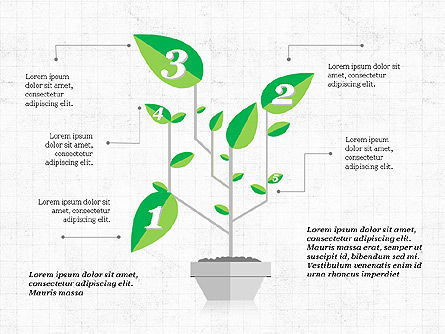 Growth a Plant Presentation Concept, 03925, Presentation Templates — PoweredTemplate.com