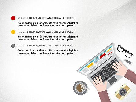 Presentation Templates: Online financia conceito de apresentação #03937