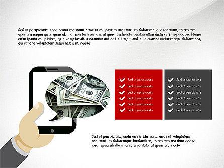 Online Finances Presentation Concept, Slide 4, 03937, Presentation Templates — PoweredTemplate.com