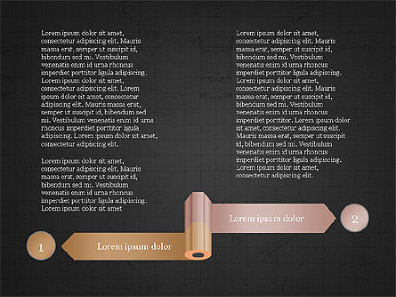 Pencil and Options Slide Deck, Slide 10, 03940, Stage Diagrams — PoweredTemplate.com