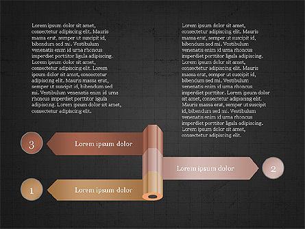 Pencil and Options Slide Deck, Slide 11, 03940, Stage Diagrams — PoweredTemplate.com
