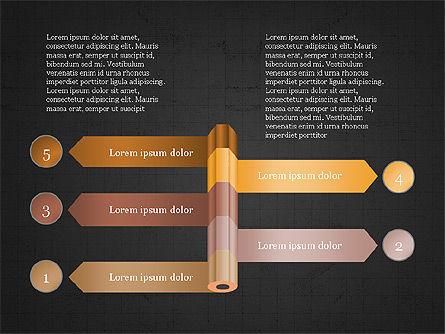 Pencil and Options Slide Deck, Slide 13, 03940, Stage Diagrams — PoweredTemplate.com