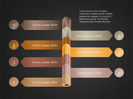 Pencil and Options Slide Deck, Slide 15, 03940, Stage Diagrams — PoweredTemplate.com