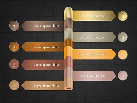 Pencil and Options Slide Deck, Slide 16, 03940, Stage Diagrams — PoweredTemplate.com
